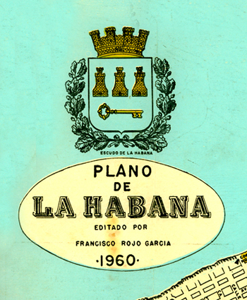 Logo-mapa Cuba 1960
